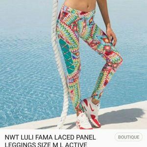 Luli Fama Laced Panel Leggings